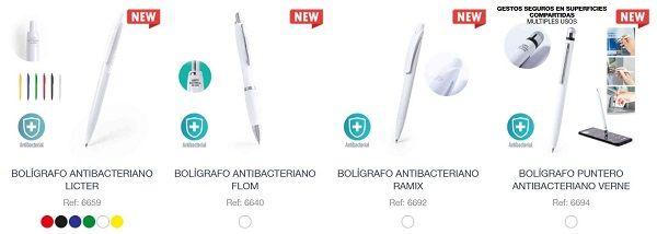 Boligrafos antibacterianos personalizados