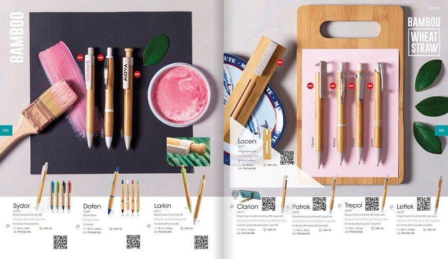 bolígrafos de bambú