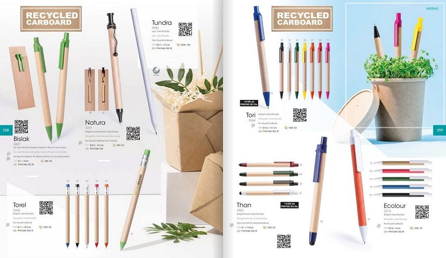 Bolígrafos de material reciclado