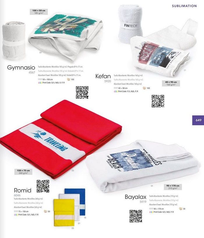 toallas sublimacion personalizadas