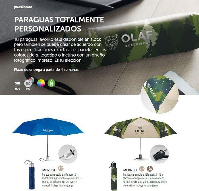 Paraguas personalizados para regalos de empresa