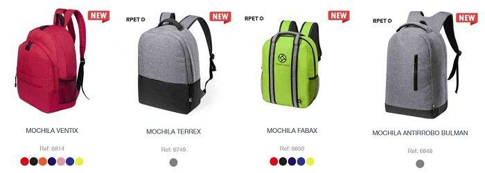 Nuevos modelos de mochilas personalizadas